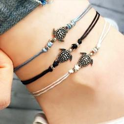 1Pc Woman Foot Ankle Bracelet Charm Chain Adjustable String