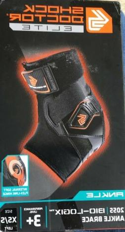 Shock Doctor 2055 Elite Bio-Logix Ankle Brace Left XS/S Perf