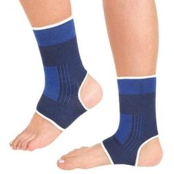 2pcs Ankle Foot Elastic Compression Wrap Sleeve Bandage Brac