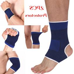 2x Elastic Palm Hand Wrist Support Band Ankle Knee Brace Spo