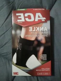 3M ACE Black Deluxe Ankle Reinforced Stabilizer Brace Firm S