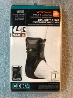 SHOCK DOCTOR 847 ANKLE STABILIZER BRACE FLEX SUPPORT STAYS