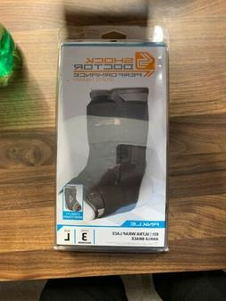 Shock Doctor 851 Ultra Wrap Laced Ankle Brace Black Large  N