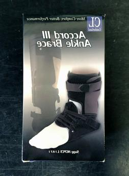 Comfortland Accord III Ankle Brace Black NEW CL-301-3 Right