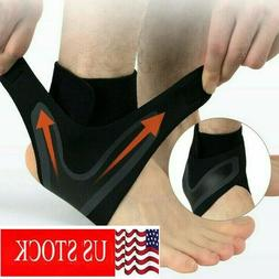 ADJUSTABLE ELASTIC ANKLE SLEEVE Elastic Ankle Brace Guard Fo