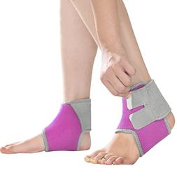 2 Pack Kids Child Adjustable Nonslip Ankle Tendon Compressio