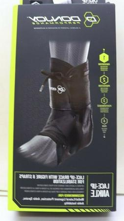 DonJoy Performance ANAFORM Lace-Up Figure-8 Straps Ankle Brace for Mild to Moderate Ankle Support for Football Volleyball Lacrosse Snowboarding Wrestling Soccer Basketball