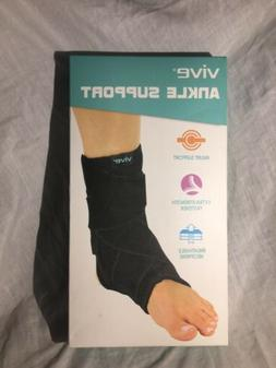 Ankle Brace By Vive - Adjustable Ankle Sleeve W/ Support Str