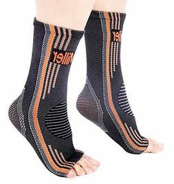 Doc Miller Ankle Brace Compression - 1 Pair Support Men Wome