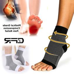Ankle Brace Compression Socks Arch Foot Support Sleeves Plan