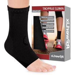 POWERLIX Ankle Brace Compression Support Sleeve Pair for Inj