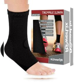 POWERLIX Ankle Brace Compression Support Sleeve  for Medium,