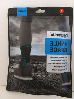 POWERLIX Ankle Brace Compression Support Sleeve  SMALL BLACK