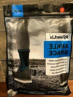 POWERLIX Ankle Brace Compression Support Sleeve  Small - Fre