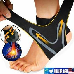 Ankle Brace Support Compression Sleeve Plantar Fasciitis Pai