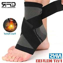 Ankle Brace Support Compression Sleeve Sport Sprain Pain Rel
