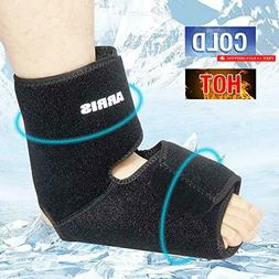 ARRIS Ankle Ice Pack Wrap/Ankle Foot Brace with 2 Gel Packs/