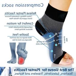 Ankle Support Brace Elastic Compression Sleeve Socks Sports