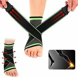 Ankle Support Brace Elastic Compression Sleeve Sport Relief