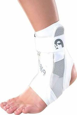 Ankle Support Brace, Right Foot White Large Shoe Size: Men's