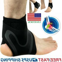 Ankle Support Protection Brace Compression Sleeve Fit Foot P