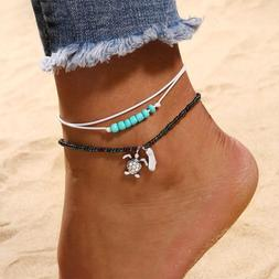 Anklets for Women Ankle Chains Bracelets Adjustable Beach An