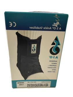 Med Spec ASO Ankle Stabilizer X LARGE Black with Stays ~ NEW