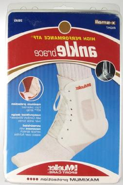 ATF ANKLE BRACE, RIGHT, WHITE - XS