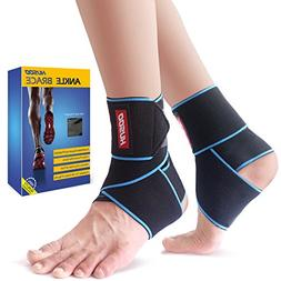 Ankle Brace, Husoo Breathable Ankle Support with Anti-Bacter