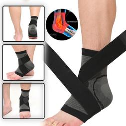 Compression Ankle Support Wrap Foot Arch Brace Injury Sprain