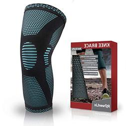 PowerLix Compression Knee Sleeve - Best Knee Brace for Men &