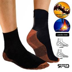 Compression Socks Copper Support Feet Ankle Sleeve Foot Plan