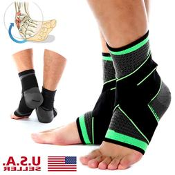 Copper Ankle Support Brace Compression Sleeve Bandage - Spor