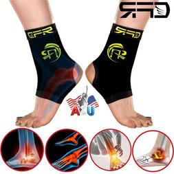 Copper Ankle Support Brace Elastic Sport Compression Sleeve