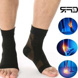 Copper Compression Socks Ankle Sleeve Support Brace Anti Fat