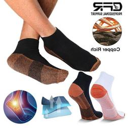 CFR Copper Compression Socks Ankle Support Arthritis Foot Br