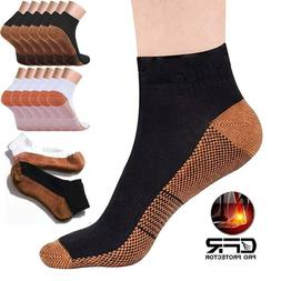 Copper Compression Socks Heel Foot Arch Pain Relief Ankle Su
