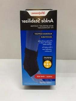 Walgreens Deluxe Ankle Stabilizer One Size Black New Brace S