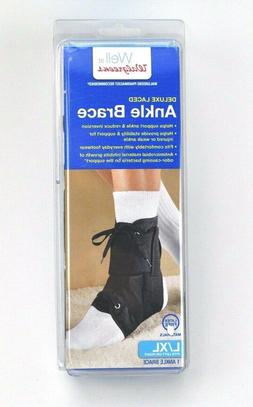 WALGREENS DELUXE LACED ANKLE BRACE L / XL Fits Left or Right
