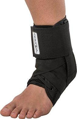 DonJoy Stabilizing Pro Ankle Support Brace, Black, Large