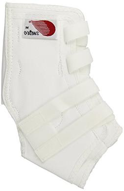 Swede-O Easy Lok Adjustable Strap Ankle Brace, White, Medium