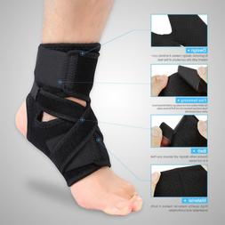 Yosoo Elastic Ankle Support Brace Compression Wrap Sleeve Sp