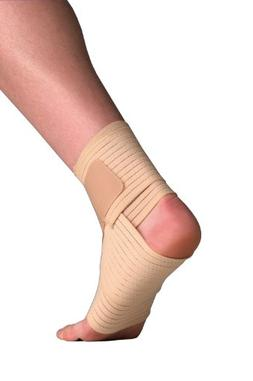 Thermoskin Elastic Ankle Wrap, Beige, Large/X-Large