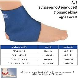 Fla 40-701LGNVY Safe-T-Sport Neoprene Ankle Support, Navy, L