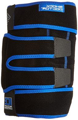Shock Doctor Ice Recovery Compression Knee Wrap, Black, Smal