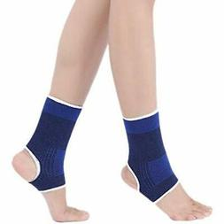 Kid Compression Ankle Brace - Knitted Sleeve Sock Support Fo