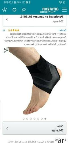 Beister 1 Pair Ankle Support Breathable Neoprene Compression