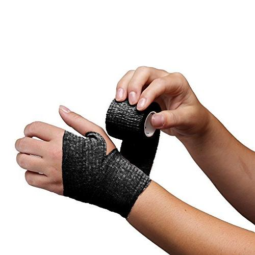 10-Pack, 5 Wrist, Ankle Swelling, Bandage FDA Approved, Black Adhesive Tape,