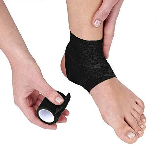 "10-Pack, 2"" x 5 Yards, Strong Wrist, Ankle Sprains & Swelling, FDA Approved, Adhesive"