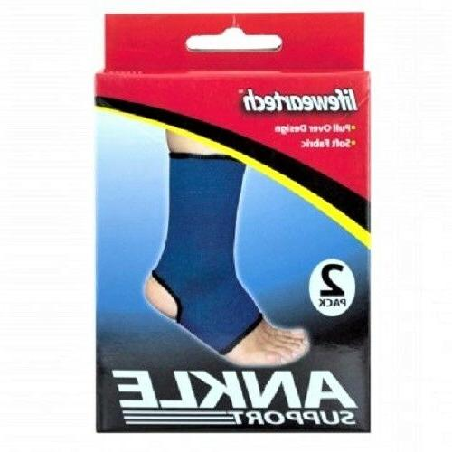 2 Pc. Ankle Sports Support Brace Compression Sleeve Foot Relief